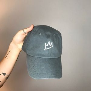 Light gray plain hat with crown logo on front!